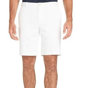*NEW* IZOD SALTWATER STRETCH MEN'S WHITE SHORTS